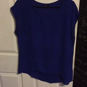 Cobalt blue high low shirt